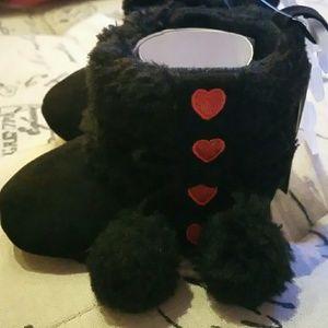 Laura Ashley baby girl black boots